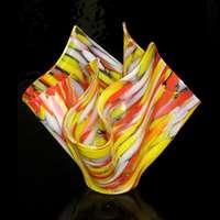 Draped Vase - Spectrum Spirit Glass
