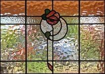 Traditional Rose Leadlight
